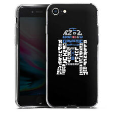 Apple iPhone 8 Silikon Hülle Case - R2-D2 Typo