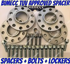Alloy Wheel Spacers 12mm x 4 Bmw X3 X4 F25 F26 M14X1.25 + Extended Bolts S Bimec