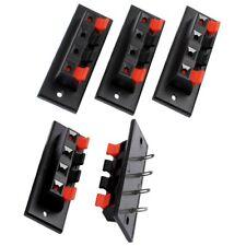 5X Einzelreihe 4 Position Kabelclip Steckdose Push Typ Lautsprecher Klemmen R2A7