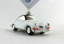 VW Karman Ghia weiß Volkswagen Christbaumschmuck Weihnachten Anhänger Glas