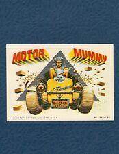 1980 Topps Weird Wheel #36 MOTOR MUMMY!
