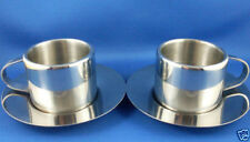 Sunbeam Stainless Steel Cups & Saucers