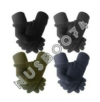 MEN'S HANDY WINTER STRETCH WARM THERMAL KNITTED FULL FINGER  GLOVES ONE SIZE