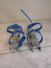 New listing Lange Vintage Metal Ice Skates Made in Italy Expandable Under Shoes Youth