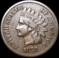 1878 Indian Cent Penny ---- NICE L@@K ----  #G089