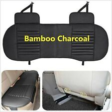 Rear Black Leather Breathable Bamboo Charcoal Car Chair Cover Seat Cushion Mat