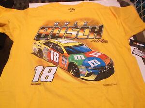 Kyle Busch M & M's Joe Gibbs Racing shirt XL ( free item )