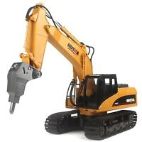 1:14 2.4G Metal RC Excavator Alloy Drilling Truck RTR With Broken Disassemble