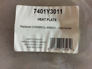 Heat Plate for Charbroil gas grill part # 4989701 for 7000 series