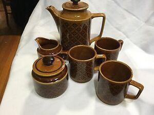 CLASSIC RETRO  JAPANESE COFFEE SET ~ THREE MUGS  ,COFFEE POT MILK JUG SUGAR BOWL