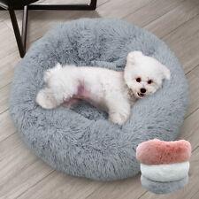 Cozy Long Plush Pet Bed Round Sleep Sofa Soft Crate Kennel Warm Mat Mattress S-L