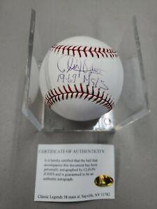 Cleon Jones New York Mets Signed  Autograph Rawlings Baseball Classic Legends