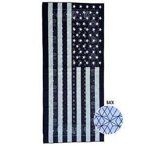 Oversized 72*35 Black USA Flag Paisley Quick Dry Microfiber Beach Towel