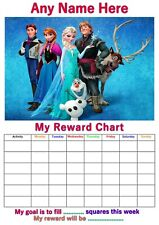 Personalised Childrens A4 Reward Behaviour Chart Princess & Stickers