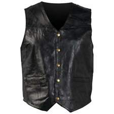 Genuine Leather Vest Italian Stone Design Pockets Full Lining Motorcycle 6x