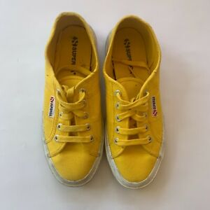 yellow superga shoes womens canvas sneakers