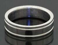 Tiffany & Co. heavy Platinum 6mm wide men's wedding band ring size 10 w/ box