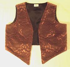 HANDMADE UNISEX VELVET EDGE-T0-EDGE WESKIT (waistcoat) Bronze 40ins