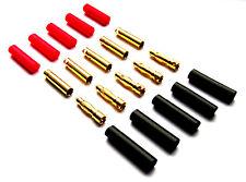 3 Paar 4mm Hochstrom Stecker Goldstecker + Schrumpfschlauch Lipo ESC Motor RC
