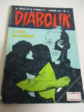 DIABOLIK N° 4 anno XX  Astorina IL BACIO DELL'ASSASSINO buono 1981