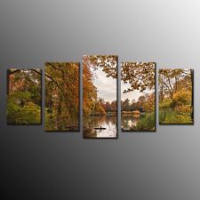 FRAMED Canvas Art for Kitchen Wall Art Print Forest Autumn Oil Painting Photo 5p