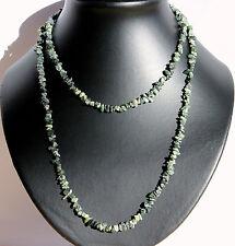 Verde Ópalo Collar Cadena de Piedras Preciosas Aprox. Ca.90cm Interminable