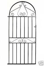 Wrought Iron Metal Arched Scroll Tall Garden Gate 3ft(915mm) x 6ft2(1880mm) WWB5