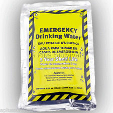 60 Emergency Mayday Survival Drinking Water Pouches Auto Home Work SOLAS Kits