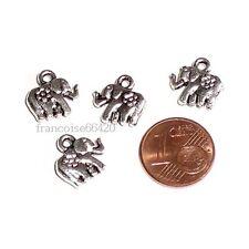 4 pcs BRELOQUES CHARMS PERLES / ELEPHANT 12mm / CREATION BIJOUX BRACELET #B407