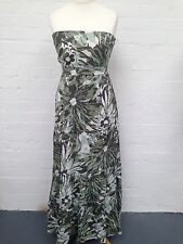 Womens Jane Norman Boobtube Maxi Dress ~ Size 12~ Greens ~ Amazing Condition