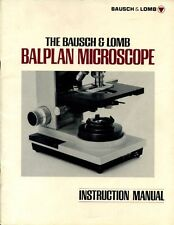 BAUSCH & LOMB BALPLAN MICROSCOPE INSTRUCTION MANUAL