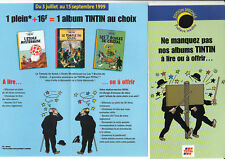 Tintin - Tract publicitaire TOTAL Dupond et Dupont 1999