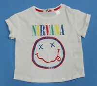 New, Never Worn H&M Kids Nirvana Colorful Smiley Face T-shirt Size 2-4 Years