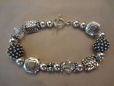 VINTAGE STERLING SILVER BRACELET-925-BEAUTIFUL STERLING