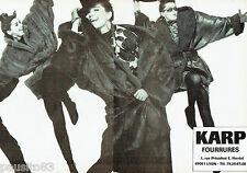 PUBLICITE ADVERTISING 046  1987  les fourrures Karp  (2pages)