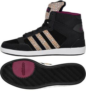 Adidas Hoops Cst Animal W Ladies mid Sneaker Fur Winter Shoes Leopard Black