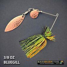 Bassdozer spinnerbaits FINESSE COPPER 3/8 oz H. BLUEGILL #3 spinner bait lures