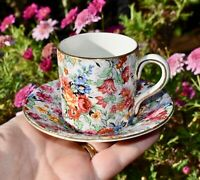 Vintage Lord Nelson BCM MARINA Chintz Demitasse/Coffee Can and Saucer