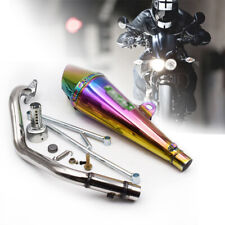Fit for Yamaha 100cc GY6125cc Machine Stainless Steel Exhaust Muffler Tail Pipe