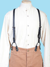 Scully Wahmaker Men's Leather Flat Braided Suspenders 540775