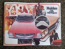 HOLDEN 1972 HQ SALES BROCHURE 100% GUARANTEE.