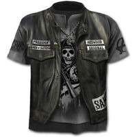 3D Skull Print Funny  T-Shirt Men's Casual Short Sleeve Tops Fashion Tee S-4XL