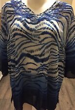 Maggie Barnes Top Shirt Size Plus 3X 26/28W Thin Light Weight Polyester Shirt