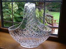 GRANDE cristallo taglio mozzafiato di vetro cesto circa 26.5 CM x 26.5 cm Nozze Centro
