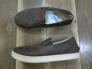 OluKai Kahu ILI 10384-6320 Men's Brown Leather Casual Shoe Sz 8 EU 41