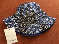 Lola Rose Reversible Rain Hat Butterfly Navy New Tags Gift One Size