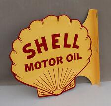 New ListingShell Motor Oil Diecut Flange Sign gas oil modern retro