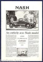 1927 NASH Cabriolet advertisement, Nash Motors Vintage Auto Rumble Seat