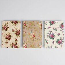 Pocket sized Notebook - Vintage Rose design, Plain paper Notebook