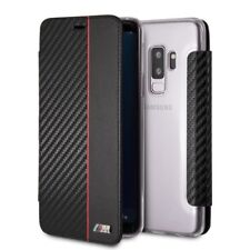 Genuine BMW M Sport Carbon Red Stripe Book Case for Samsung S9